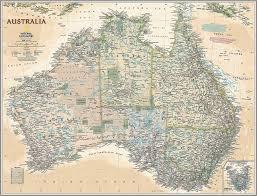 executive australia map wall mural self adhesive wallpaper