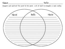 Book Vs Movie Venn Diagram Book Study Forms 2nd Grade Classroom A Variety Of