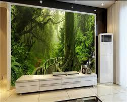 Rainforest Bedroom Beibehang Green Tree Landscape Rainforest Background Wall 3d