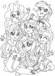Equestria Girls Coloring Pages Getcoloringpagescom