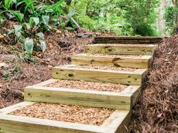 Outdoor Steps How To Build Outdoor Wood Steps How Tos Diy
