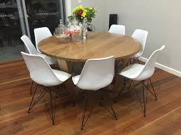 torino tasmanian oak cross dining round table previous