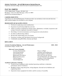 electronic resume sample