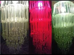 jhoomar chandelier with colorful lamp making at home