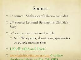 romeo and juliet west side story essay paper expectations or  3 sources