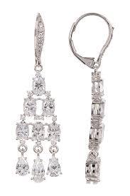 image of nadri cz chandelier earrings