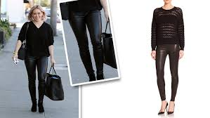 hilary duff leggings j brand edita lambskin leather leggings shefinds