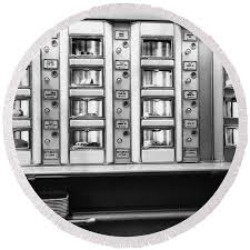 Automat Vending Machine For Sale Delectable Vending Machines In An Automat C 48s Round Beach Towel For Sale