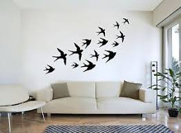 image is loading flying swallows flock of birds silhouette wall art  on bird silhouette wall art with flying swallows flock of birds silhouette wall art decal sticker