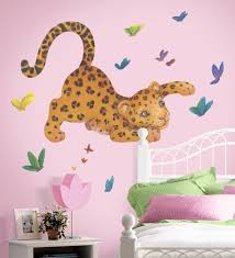 leopard large removable wall stickers