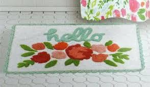 kohls accent rugs bath rug spring fl hello cotton crochet edge from sonoma brand kohl s kohls accent rugs week deals sonoma