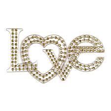 gold metal heart wall art