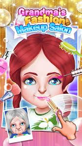 grandma s fashion makeup salon makeover dressup spa games free screenshot 2