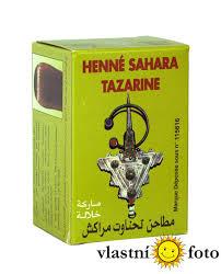 Henna Sahara Tazarine čistá Henna Na Vlasy I Tělo 100 G