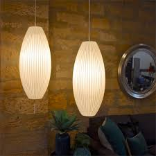 herman miller george nelson cigar suspension bubble lamp