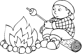 Small Picture Simple Campfire Coloring Camping Pages Gekimoe 87166