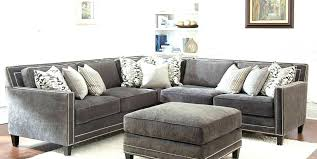 gray sofa with nailhead trim gray sofa with trim modern grey sectional leather for in widely