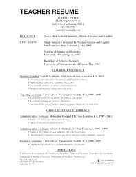 Sample Resume For Teaching Sample Resume For Teachers Without Experience