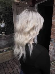 Platinum Hair Design Full Head Of Powder Lightener Foils With A Root Shadow Toner