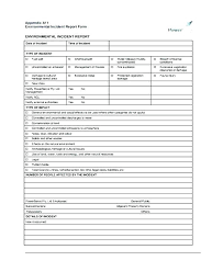 Incident Accident Report Form Template Format Employee Doc