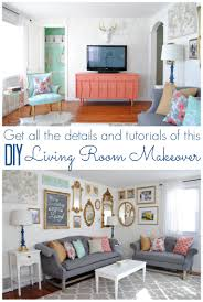 Living Room Diy Coral And Mint Living Room Reveal Diy Living Room Classy And House