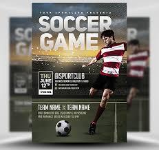 soccer team brochure template soccer game flyer template flyerheroes