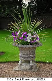 Decorative Garden Urns A Decorative Stone Garden Urn With Plants An Old Decorative 5