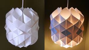 Diy Paper Lamplantern Cathedral Light How To Make A Pendant Light Out Of Paper Ezycraft