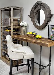reclaimed wood office desk. Custom Reclaimed Wood Desk For Small Home Office [From: Urban Goods] C