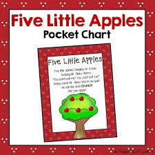 Apple Tree Pocket Chart Five Little Apples Pocket Chart Kindergartenklub Com