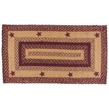ihf home decor star wine rectangle jute braided area rug carpet 27 x 48 inch
