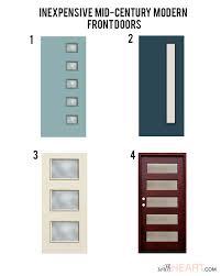 mid century modern front doorsModern Front Door Options  withHEART  Doors  Pinterest  Front