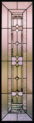 prairie style stained glass sidelights