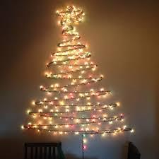 Christmas Tree Design On Wall With Lights 11 Last Minute Diy Christmas Trees Wall Christmas Tree