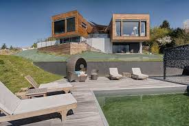 villa bois d architecte atypique