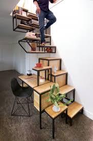Industrial Floating Stairs Bookshelves