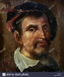 Portrait of Fernando Colón (1488-1539), humanist and traveller; he ...