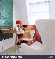 contemporary art furniture. Modern Study With Contemporary Art And Alvar Aalto Furniture In London Apartment