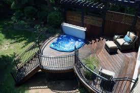 top 80 best hot tub deck ideas