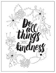 Small Picture With Kindness Coloring Page FaveCraftscom