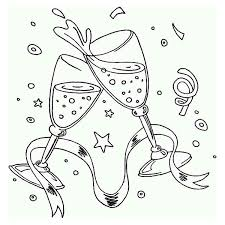 Small Picture A New Years Toast on the Party Coloring Page A New Years Toast on