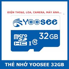 Thẻ nhớ dùng cho camera wifi YOOSEE 32G giảm chỉ còn 85,000 đ