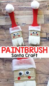 paintbrush santa ornament fun recycled craft for kids or a diy ornament to