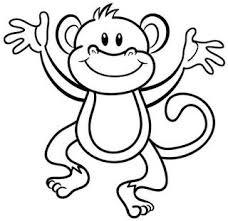 Pin Van Pammy Op Animals Monkey Coloring Pages Preschool Coloring