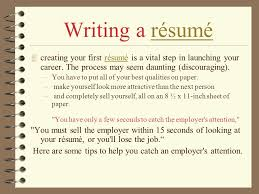 How To Write Your First Resume Ppt Video Online Download