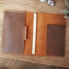 personalized leather folder