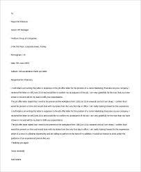 Job Acceptance Thank You Under Fontanacountryinn Com