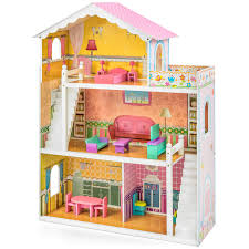 cheap wooden dollhouse furniture. Kids Dollhouse Furniture. Best Choice Products Large Childrens Wooden Fits Barbie Doll House Pink Cheap Furniture L