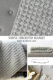 Crochet Patterns Blanket Extraordinary Simple Crocheted Blanket Go To Pattern Mama In A Stitch