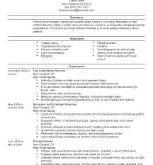 Nanny Resume Skills Delectable Nanny Cv Template Sample Best Resume Examples Child Are Made For